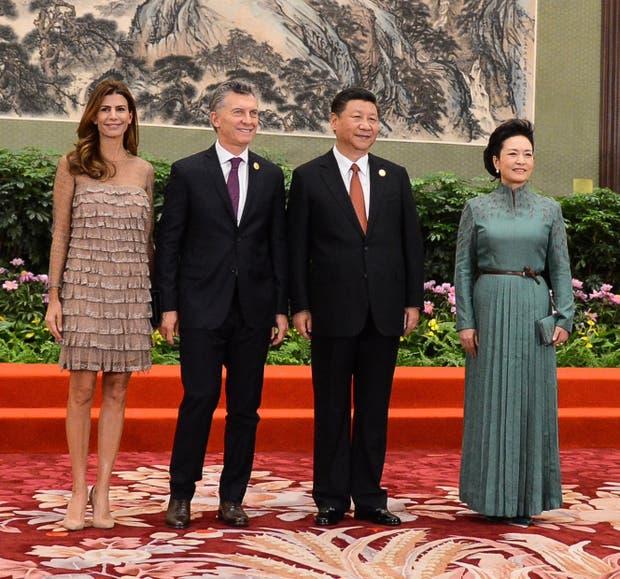 Awada, Macri, Xi jinping y Liyuan