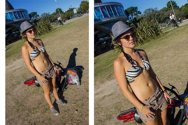Para un día de calor inesperado nada mejor que un traje de baño, short y sombrero para protegernos del sol ¿Qué te parece este look?. Foto: Agustina Ferreri