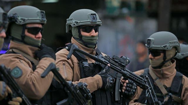 Las fuerzas policiales y de seguridad se desplegaron por toda la Villa 1-11-14