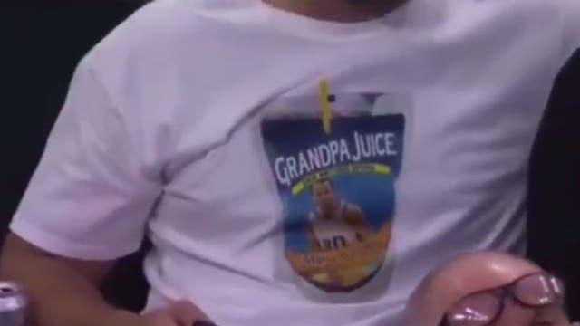"""Grandpa Juice"", la remera con la cara de Manu"