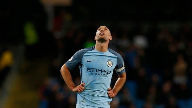 Emotiva despedida de Pablo Zabaleta en Manchester City.. Foto: Reuters
