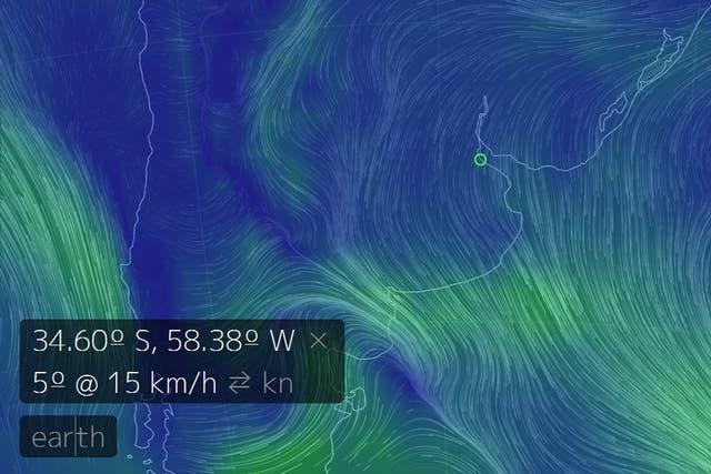 Así se ve Buenos Aires en un día de mucho calor como hoy
