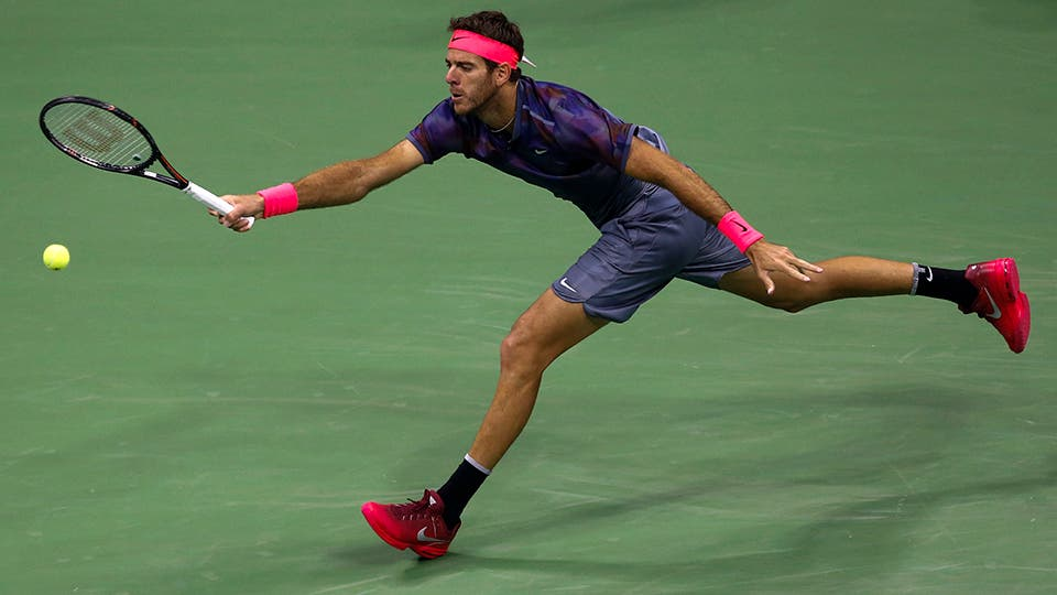 Juan Martín del Potro-Roger Federer, US Open, cuartos de final. Foto: AP