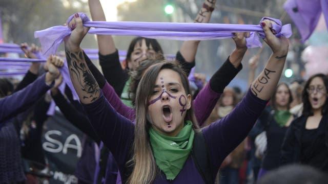 Ni una menos. Marcha contra la violencia de género desde el Congreso Nacional a Plaza de Mayo. Foto: DyN / Javier Brusco