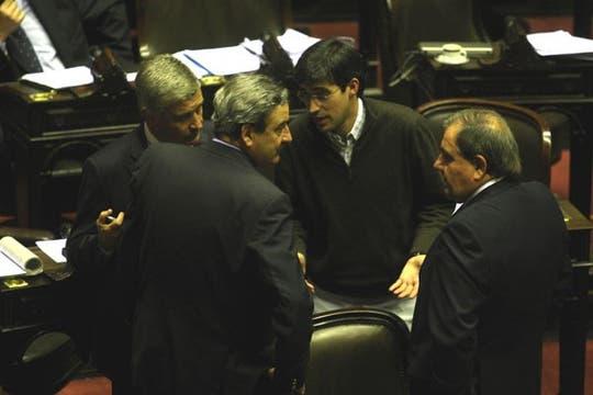 La oposición, antes de abandonar el recinto. Foto: LA NACION / Fabián Marelli