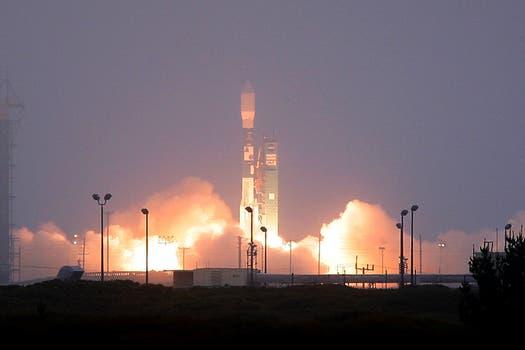 Se lanzó desde Lompoc, California, el cohete Delta II que contiene el satélite argentino SAC-D/ Aquarius. Foto: LA NACION / Maxie Amena / Enviado Especial a Lompoc, California