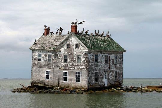 La última casa de Holland Island, en Maryland, Estados Unidos. Foto: Flickr/baldeaglebluff