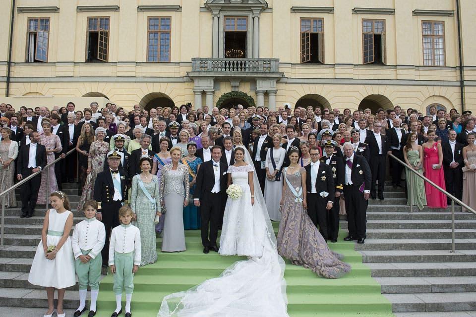 Los recién casados celebraron con un banquete para 500 invitados. Foto: /AP