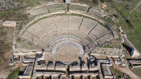 Viejo teatro de Filipos, en Grecia