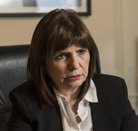 """Patricia Bullrich, ministra de Seguridad: """"En el ministerio siempre dejamos en claro que aquel que infringe la ley paga las consecuencias"""""""