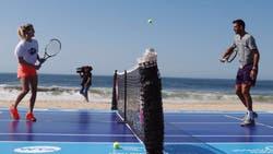 Eugenie Bouchard pelotea con Juan Martín del Potro en las playas de Acapulco
