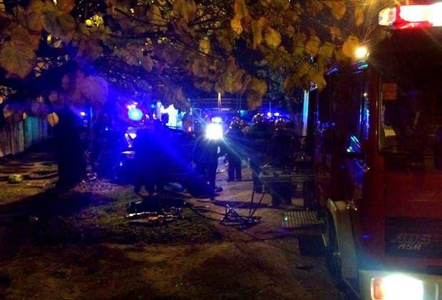 Los patrulleros persiguieron a los secuestrados por la calle Calandria