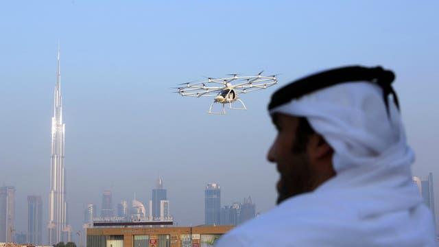 El taxi volador realizó una prueba de vuelo el lunes sin tripulación