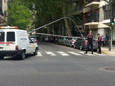 El tránsito por Rivera Indarte, cortado