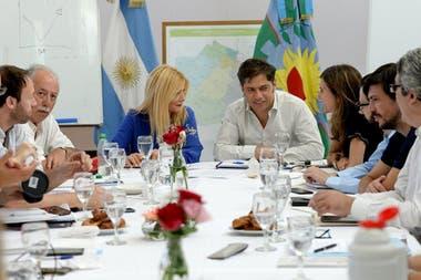 Las negociaciones fueron ayer el eje de la reunión del gabinete bonaerense