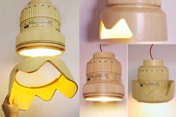 Para los amantes de la fotografía; ajustando el lente, cambia el diseño de la lámpara y la dispersión de la luz.. Foto: Bemlegaus.com