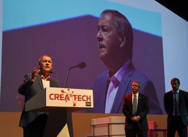 Schiaretti, ayer en el acto de apertura de CREA Tech
