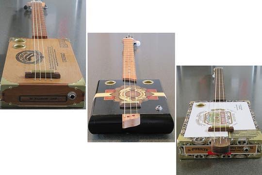 Guitarras hechas con cajas de puros: nada se tira, todo se recicla. Foto: lanacion.com / http://www.etsy.com