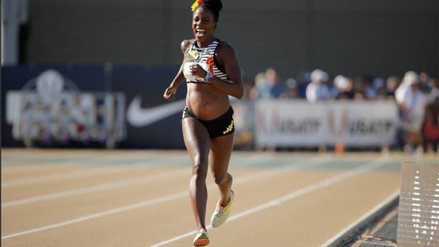 La atleta corrió los 800 metros embarazada de cuatro meses
