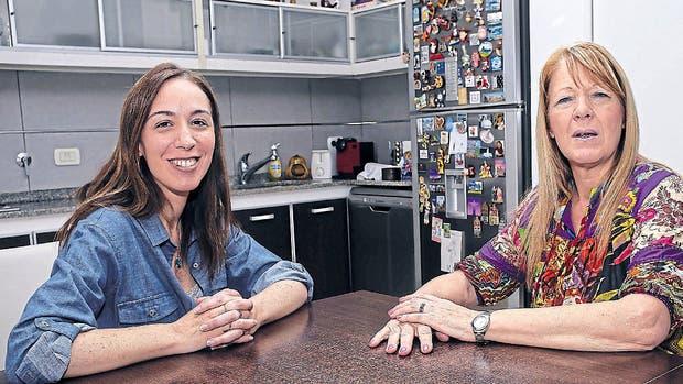 María Eugenia Vidal visitó a Margarita Stolbizer en su casa de Castelar