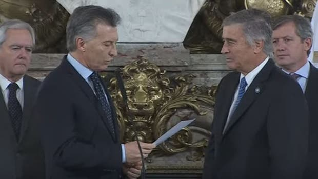 Macri tomó juramento a Aguad y Finocchiaro