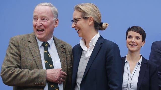 Gauland, Alice Weidel y Petry, la cúpula de Alternativa para Alemania