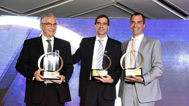 Luis, Alex y Federico Robbio, ganadores en la categoría emergente.