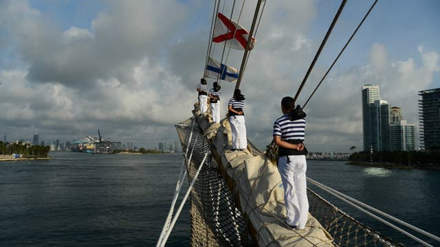 La Fragata Libertad llegó a Miami