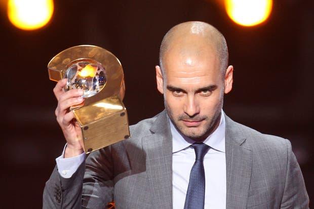 Pep Guardiola, elegido el mejor entrenador del año.  /AP, AFP y Reuters