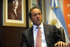 Daniel Scioli. Con cautela, reconoce sus aspiraciones presidenciales