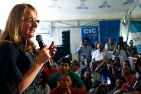 La ministra Alicia Kirchner, jefa de Desarrollo Social