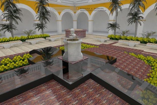 Render del monumento donde depositarán las cenizas del escritor