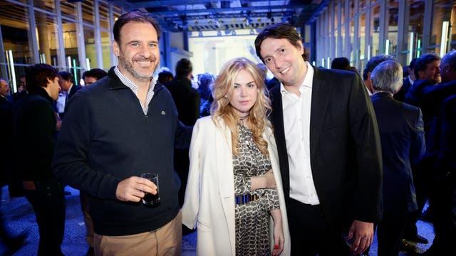 Ramiro Castillo (Havas), Esmeralda Mitre y Alfredo Garicoche. Foto: LA NACION