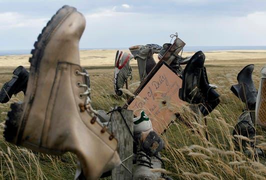 Montaña de los Zapatos. Foto: LA NACION / Mauro V. Rizzi /Enviado especial