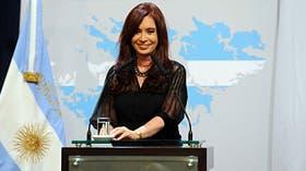 Cristina Kirchner en la Casa Rosada