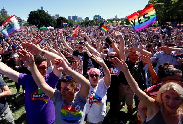 Según una encuesta popular el 62% de la sociedad australiana abala el matrimonio homosexual