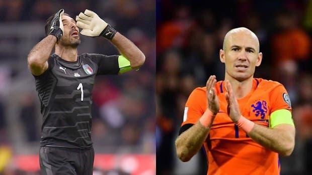 Buffon y Robben, dos de los grandes ausentes que tendrá Rusia 2018
