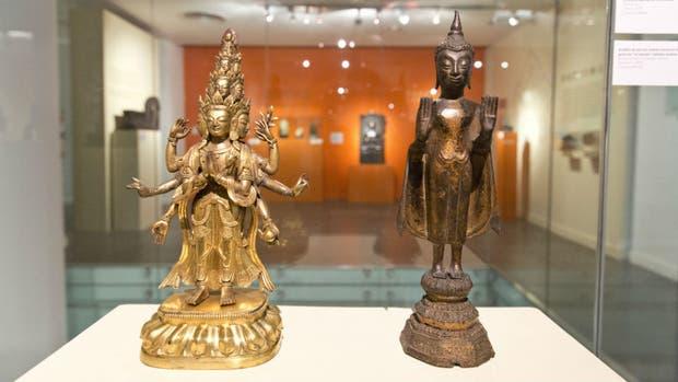 Piezas de la colección del museo expuestas recientemente en la muestra ''''Mitos y símbolos de la India'''', que se realizó en la Casa del Bicentenario