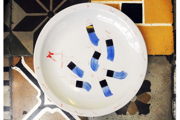 Bachas Para Baño Pintadas A Mano:Vajilla artesanal: propuesta pintadas a mano – Living – ESPACIO LIVING