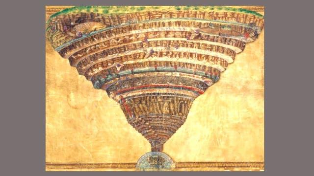 Ilustración de Sandro Botticelli para la Divina Comedia