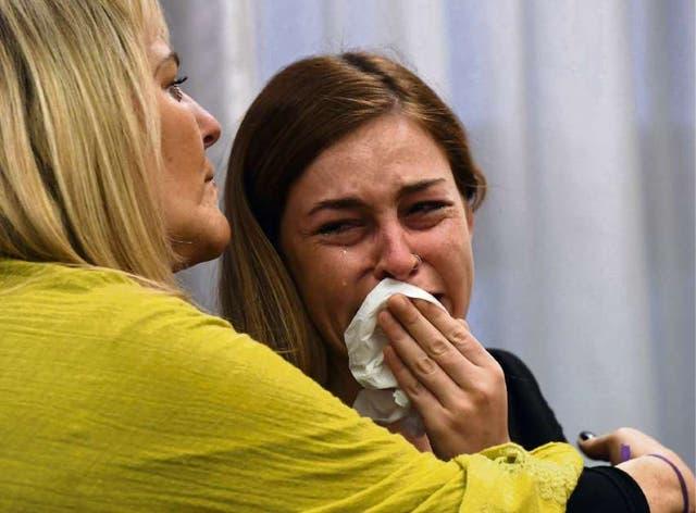 La víctima no pudo contener la emoción al escuchar el veredicto