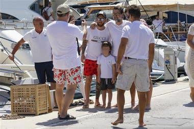 Lionel Messi reapareció en Ibiza con su familia