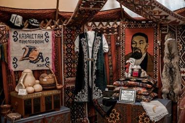 Tradición local. Objetos de la cultura de Kazajistán se exhiben también en el museo
