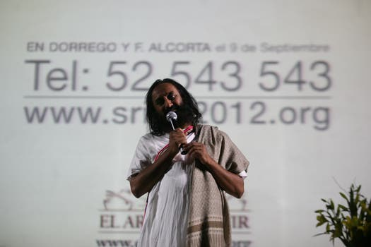 Con charlas y meditaciones Ravi Shankar cautivó a todos. Foto: LA NACION / Mariana Araujo