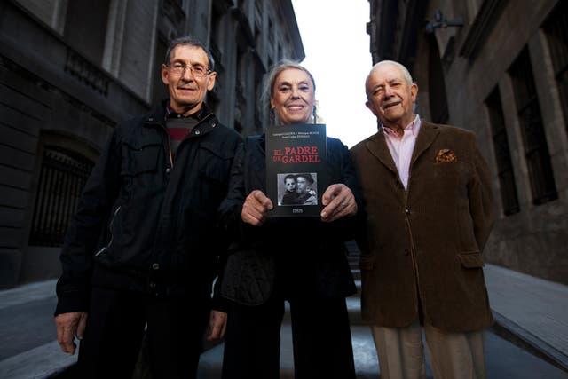 Galopa, Ruffié y Esteban, los autores del libro El padre de Gardel