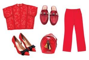 Catálogo de compras en rojo
