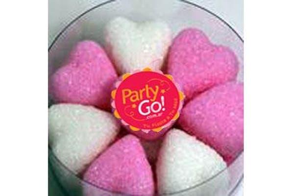 Los terrones de azúcar con forma de corazones son el elegido de Party Go!. Foto: Fotos: Gentileza Party Go!