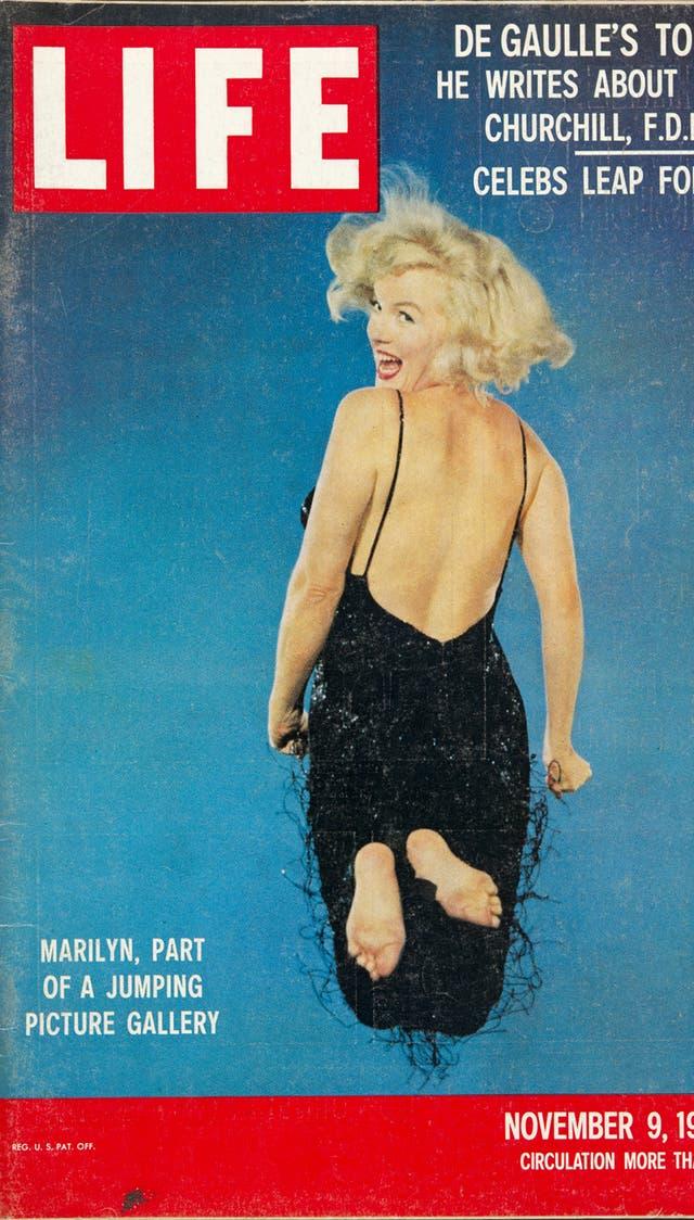 """Portada de LIFE con el """"salto"""" de Marilyn Monroe, 9 de noviembre de 1959"""