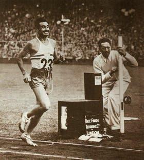 Delfo Cabrera, ganador de la medalla dorada de Londres 1948