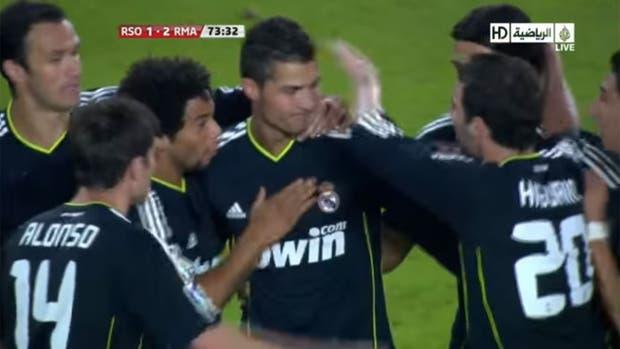 Cristiano Ronaldo celebra como suyo el gol de Pepe